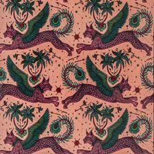 Coral Animal Decorator Fabric by Clarke & Clarke
