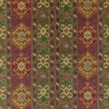 Plum/Green Velvet Decorator Fabric by Mulberry Home