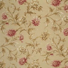 Linen/Pink Botanical Decorator Fabric by Mulberry Home