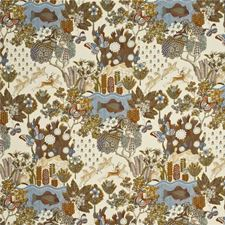 Camel/Sky Animal Decorator Fabric by Mulberry Home