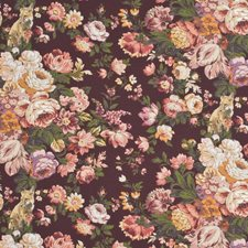 Damson/Ruby Print Decorator Fabric by Mulberry Home