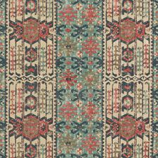Indigo/Red Ethnic Decorator Fabric by Mulberry Home