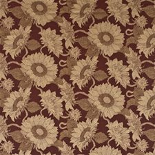Red Print Decorator Fabric by Mulberry Home