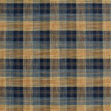 Blue/Mole Check Decorator Fabric by Mulberry Home