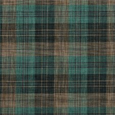 Teal/Taupe Check Decorator Fabric by Mulberry Home