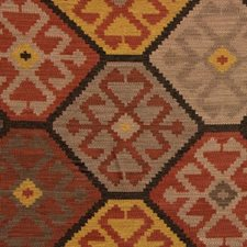 Red/Gold Ikat Decorator Fabric by Mulberry Home