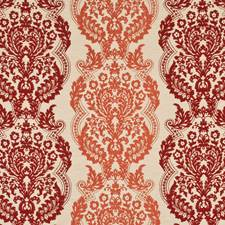 Sienna/Paprika Silk Decorator Fabric by Mulberry Home