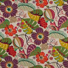 Red Embroidery Decorator Fabric by G P & J Baker