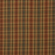 Russet/Teal Check Decorator Fabric by Mulberry Home