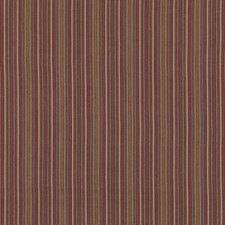 Plum Stripes Decorator Fabric by Mulberry Home