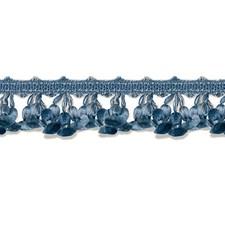 Med Blue/Dk Blue/Grey Trim by Scalamandre