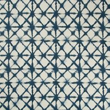 Indigo/Neutral Geometric Decorator Fabric by Kravet