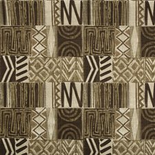Beige/Brown/Bronze Ethnic Decorator Fabric by Kravet