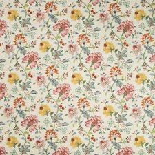Ivory/Pink/Green Botanical Decorator Fabric by Kravet
