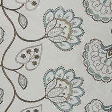 Robin's Egg Blue Decorator Fabric by RM Coco