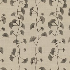 Natural/Charcoal Botanical Decorator Fabric by Groundworks