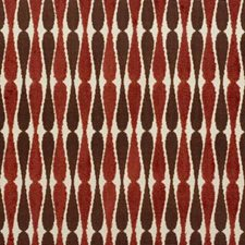 Beige/Rust Modern Decorator Fabric by Groundworks