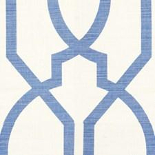Blue Lattice Decorator Fabric by Groundworks