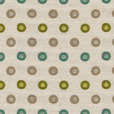 Teal Dots Decorator Fabric by Groundworks