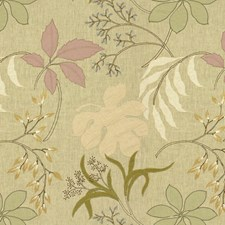 Mauve/Sage Botanical Decorator Fabric by Groundworks