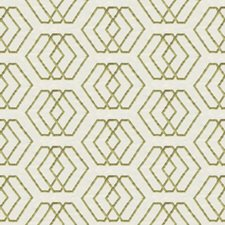 Ivory/Lime Geometric Decorator Fabric by Groundworks