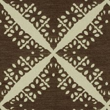 Cocoa Geometric Decorator Fabric by Groundworks