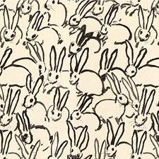Black Animal Decorator Fabric by Groundworks