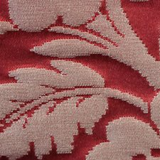 Cerise/Creme Decorator Fabric by Scalamandre