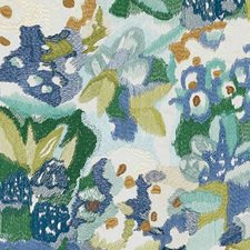 Blue/avocado Decorator Fabric by Highland Court