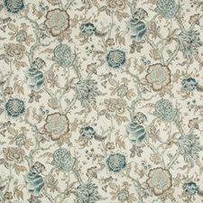 Indigo/Grey/White Botanical Decorator Fabric by Kravet