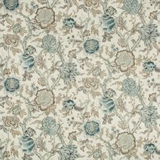 Indigo/Grey/White Jacobeans Decorator Fabric by Kravet