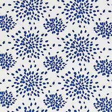 Blue On White Decorator Fabric by Scalamandre