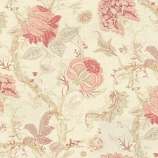 Beige/Pink/Yellow Print Decorator Fabric by Kravet