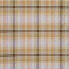 Natural Check Decorator Fabric by G P & J Baker