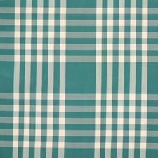 Teal Plaid Decorator Fabric by Brunschwig & Fils