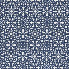 Blue/White Traditional Decorator Fabric by JF