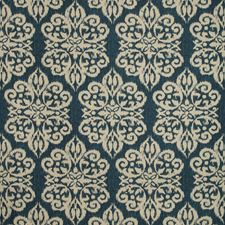 Indigo/Neutral Damask Decorator Fabric by Kravet