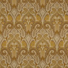 White/Yellow/Brown Paisley Decorator Fabric by Kravet