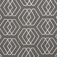 Pewter Geometric Decorator Fabric by Groundworks