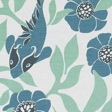 Sea Green Animal Decorator Fabric by Duralee