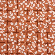 Leaf Trellis-Orange Print Decorator Fabric by Lee Jofa