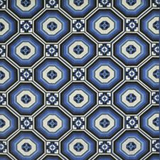 Mosaic Blue Decorator Fabric by Ralph Lauren