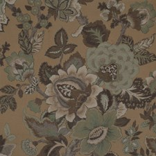 Brown Traditional Decorator Fabric by JF