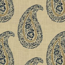 Indigo Paisley Decorator Fabric by Kravet
