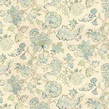 White/Blue/Light Blue Botanical Decorator Fabric by Kravet