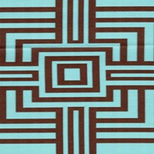 Turquoise/Chocolate Decorator Fabric by RM Coco