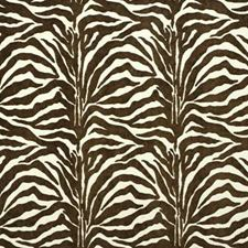 Brown/White Outdoor Decorator Fabric by Groundworks