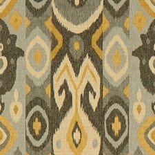 Grey/Charcoal/Yellow Ethnic Decorator Fabric by Kravet