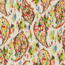 White/Multi Paisley Decorator Fabric by Kravet
