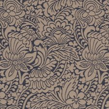 Creme/Beige/Blue Traditional Decorator Fabric by JF